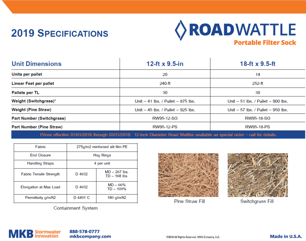 Road Wattle Spec Sheet (PDF)