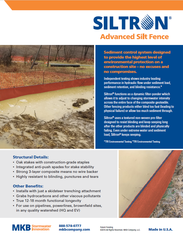 Siltron Advanced Silt Fence Product Sheet