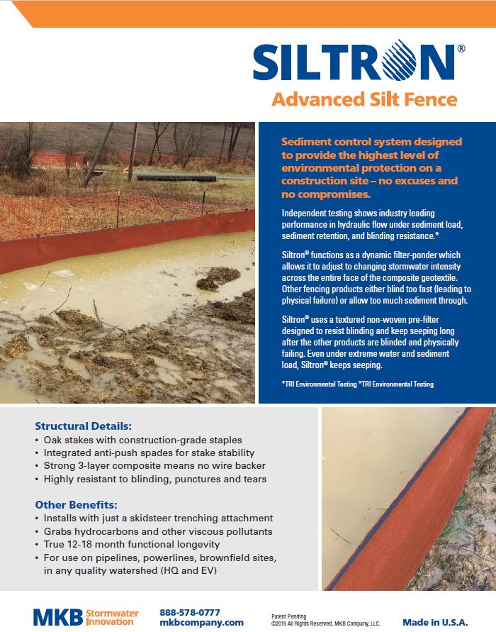 Siltron Advanced Silt Fence Overview (PDF)