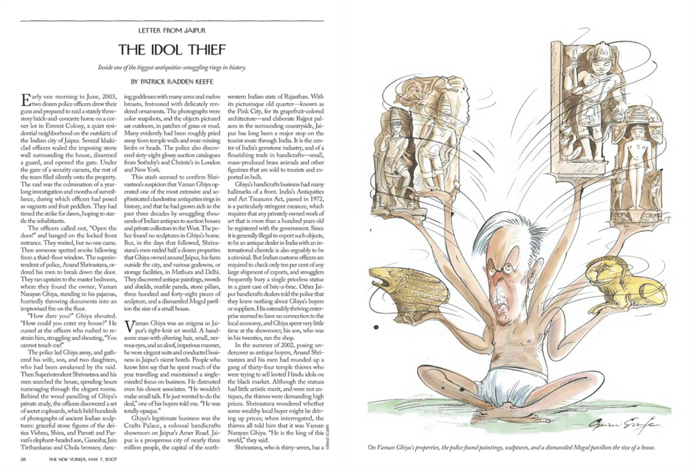 """The Idol Thief,"" The New Yorker, May 7, 2007"