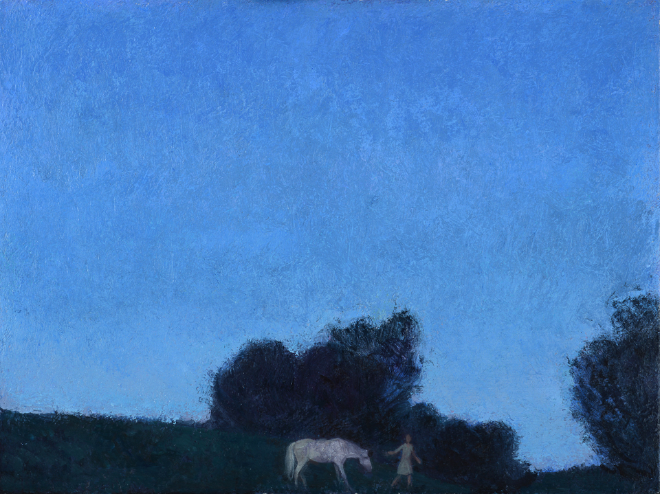 Twilight, Girl Leading a Horse