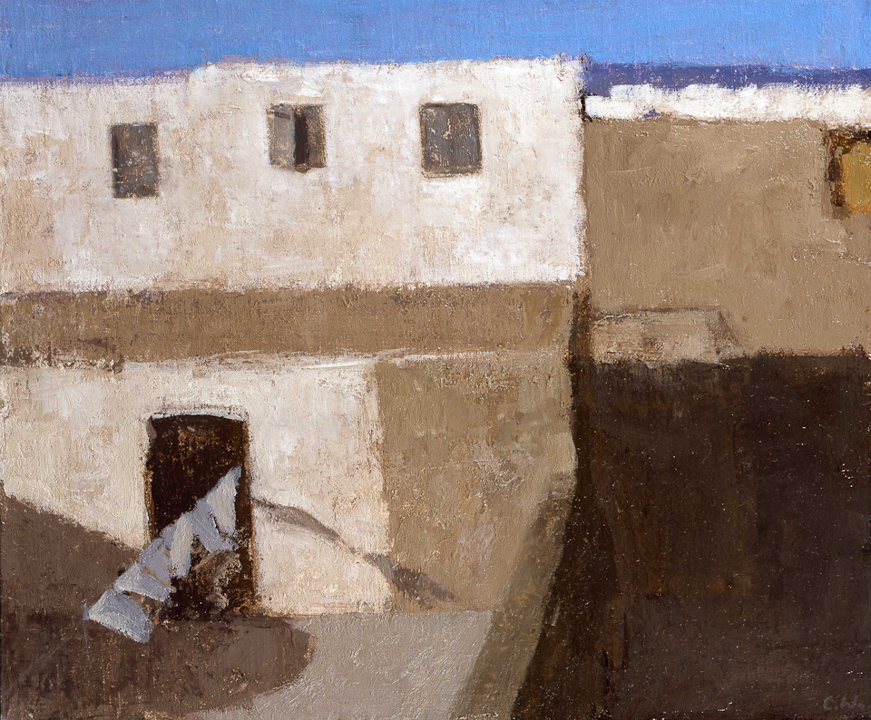 Rooftop View, Essaouira, Oil on Canvas, 25.5 x 30.5cm