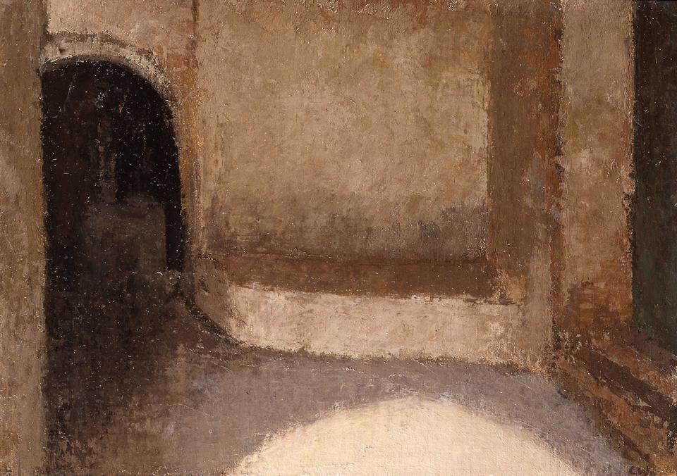 Entrance Hall, Telouet, Oil on Canvas, 25.5 x 35.5cm