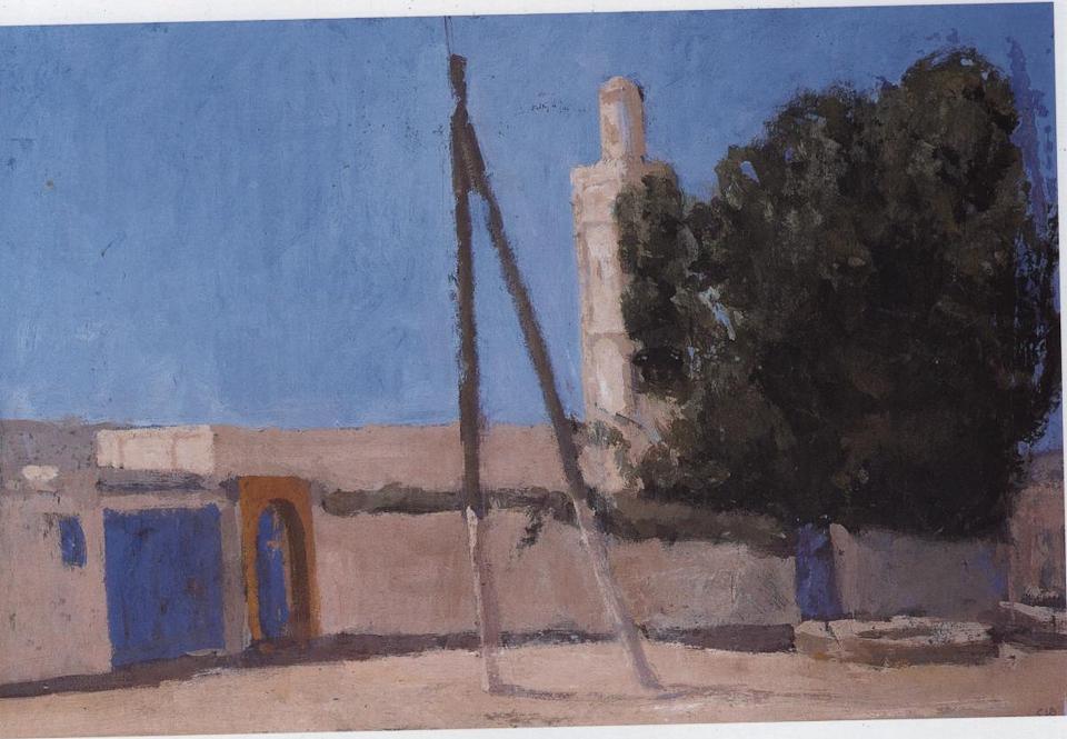 Minaret, Casein Tempera on Card, 38 x 56cm