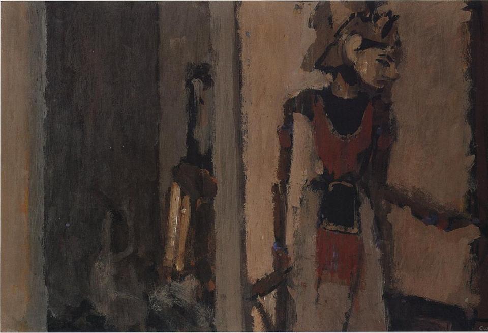 Puppet, Casein Tempera on Card, 38 x 56cm