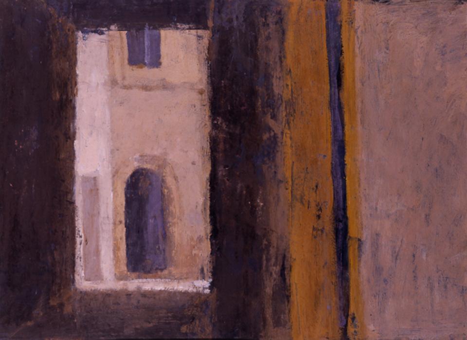 Passage Essaouira, Casein Tempera on Card, 35.5 x 48cm