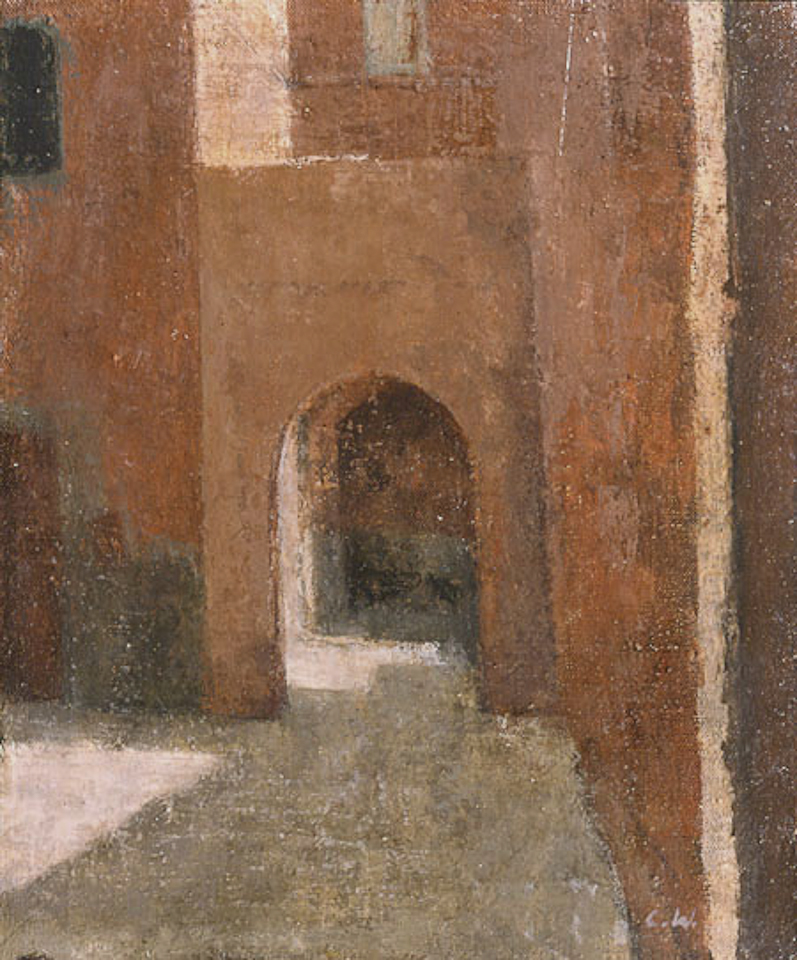 Passageway, Marrakech, Oil on Canvas 30 x 25cm