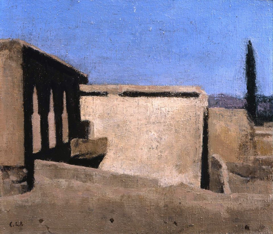 Kasbah, Tailouine, Oil on Canvas, 25 x 29cm