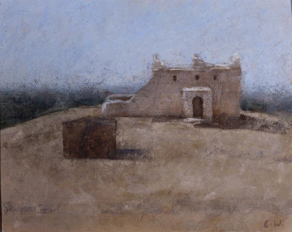 Koubba, Oil on Paper, 20 x 25cm