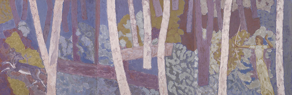 The Deer, Casein Tempera on Panel, 122 x 366cm