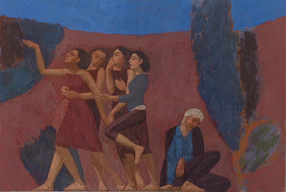 Departure, Casein Tempera on Card, 47 x 81cm