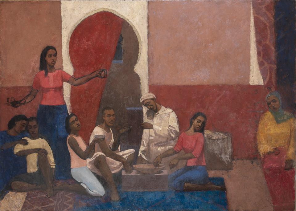 Rupture du Jeune, Casein Tempera on Canvas, 102 x 142cm