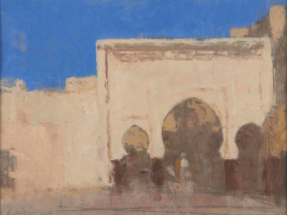 Gateway, Casein Tempera on Card, 22 x 29cm