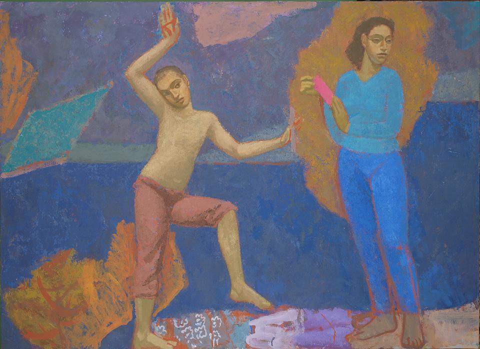 The River, Casein Tempera on Canvas, 101.5 x 139.5cm