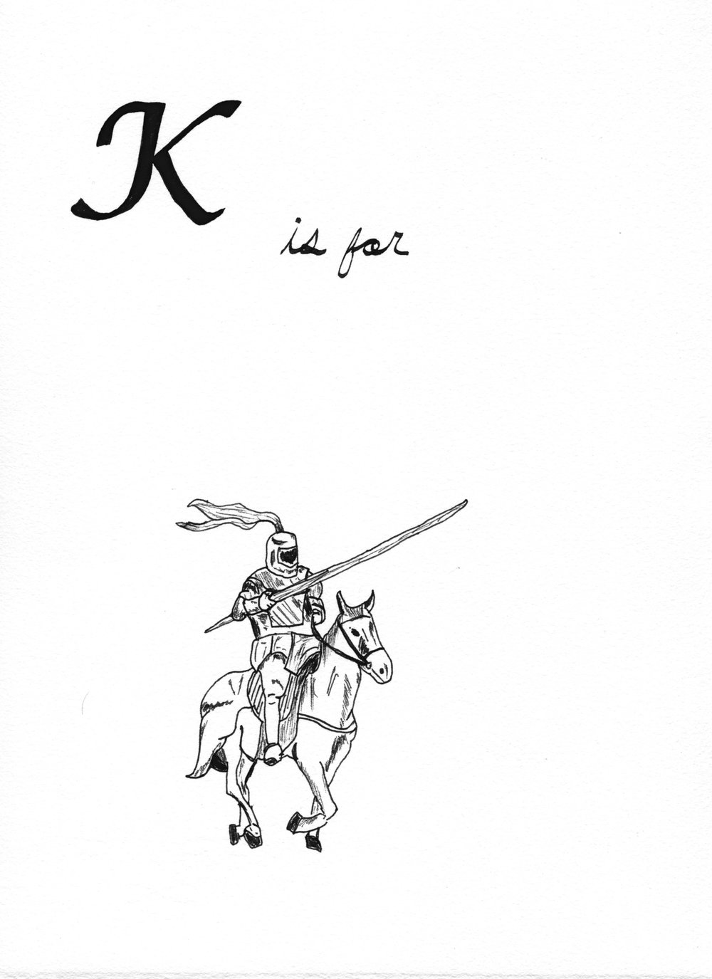 K is for Knight   from the  Alphabet Primer Series