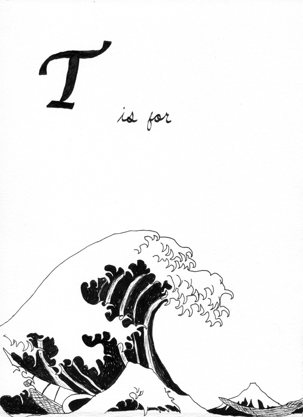 T is for Tsunami   from the  Alphabet Primer Series