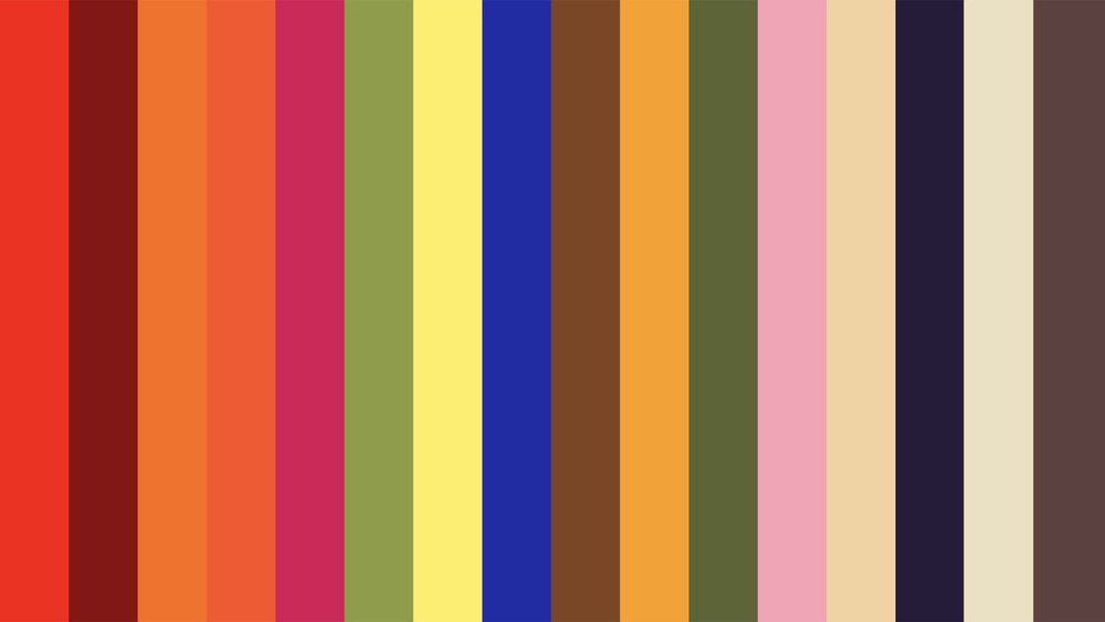 How To Mix Colors? - Take any neutral color (the last four colors) and pair it with whatever color (or colors) to the left of those.
