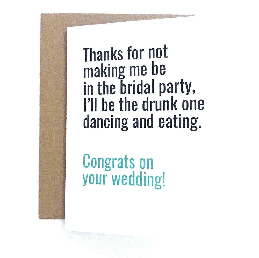 funny wedding card funny bridal shower card