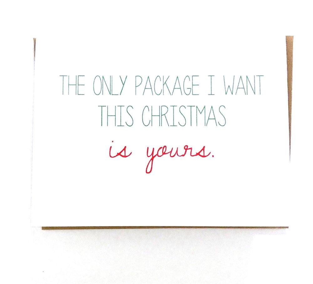 Naughty Christmas Card Christmas Package Bepaperie