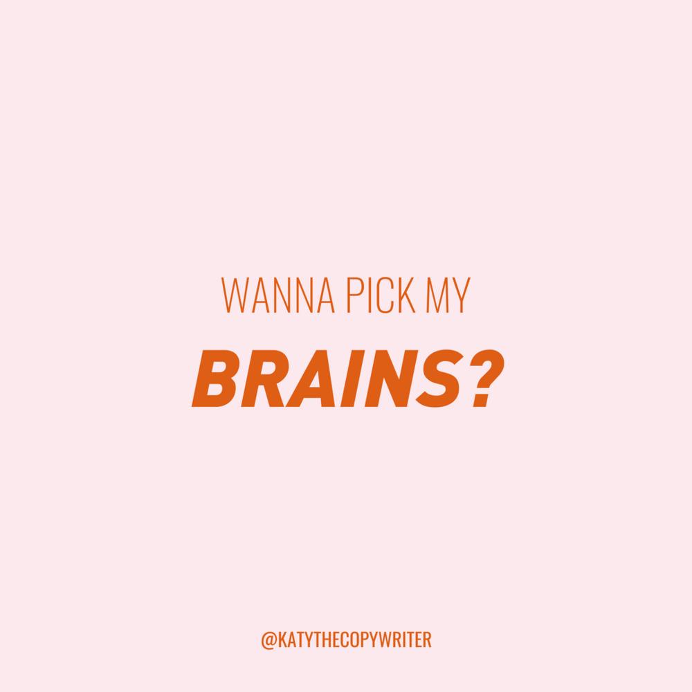 Wanna pick my brains?  Book a call
