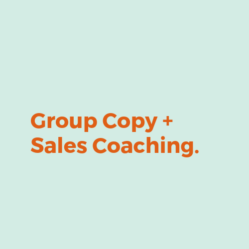 one-to-one copy coaching