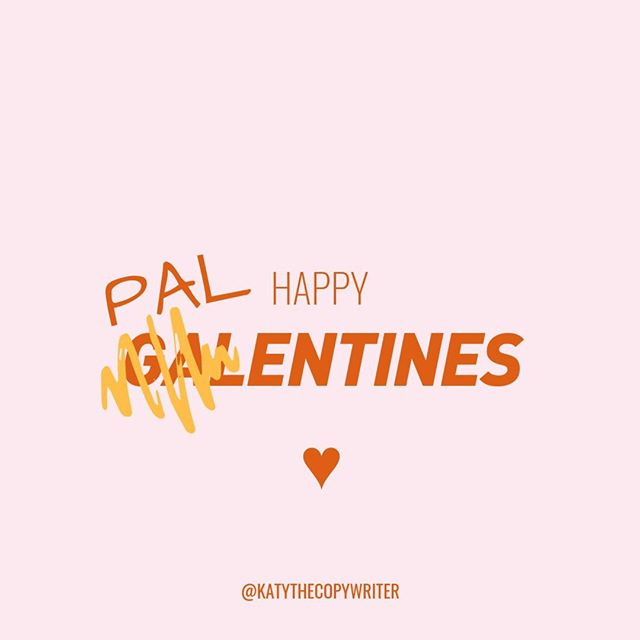 "Remember, folks, to keep it inclusive this week when you share the love for your friends, customers, and followers. . Before you get swept up in the gendered internet marketing holiday hashtag world of #galentines this week, take a moment to pause. 🧡Are you sure you're not excluding anyone? 🧡Are you certain you're not telling some of your followers ""sorry you can't join in""? 🧡Are you 100% ok with promoting the idea that loving your friends is just for girly girls? . ✨I love my clients equally, regardless of their gender or gender expression. ✨I'm grateful for every single one of my followers, whichever pronouns they go by. ✨And, I only want to promote language that all genders can identify and connect with. . Because in a time where an anti-rape culture razor advert actually divides opinion (wtf?) and @pixar cartoons are now tackling workplace ""bro"" culture - isn't it important that we actually STOP and ask ourselves ""What is my part in this toxic masculinity epidemic?"" . As someone who makes their living through teaching folks how to pick the right words to make stuff happen - I take the power of words VERY seriously.⚡ . I know that your galentines posts are coming from a good place. They come from a place of wanting to connect with + celebrate the people you love, aside from your partner(s) or love interest(s). But this icky, gendered language - it's part of the problem. . Going neutral isn't just ""a nice thing to do"" either. If you're using this marketing holiday to promote your business, you might want to listen to this part extra carefully. . 👩‍💻Put ""Gen Z Gender Expression"" into Google and it won't take you long to find some rad stats. 56% of Gen Z-ers say they have a friend who goes by them, they, or ze, and 70% want to see all gender washrooms in public spaces. . They are your future customers, my friends.  How much longer until you get with the program? Happy #Palentines Katy ⚡🧡 . . . . #katythecopywriter #copywriter #copywriting #marketing #contentmarketing #contentmarketingtips #copywritingtips #toronto #bristol #entrepreneurlife #womeninbusiness #letsmakelemonade #freelancelife #freelancer #squirmfreesalesclub #salescoach #copywritingcoach"