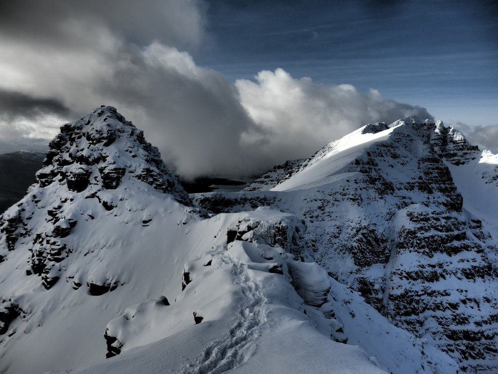 Traverse of Liathach (II), one of the Torridon Giants.