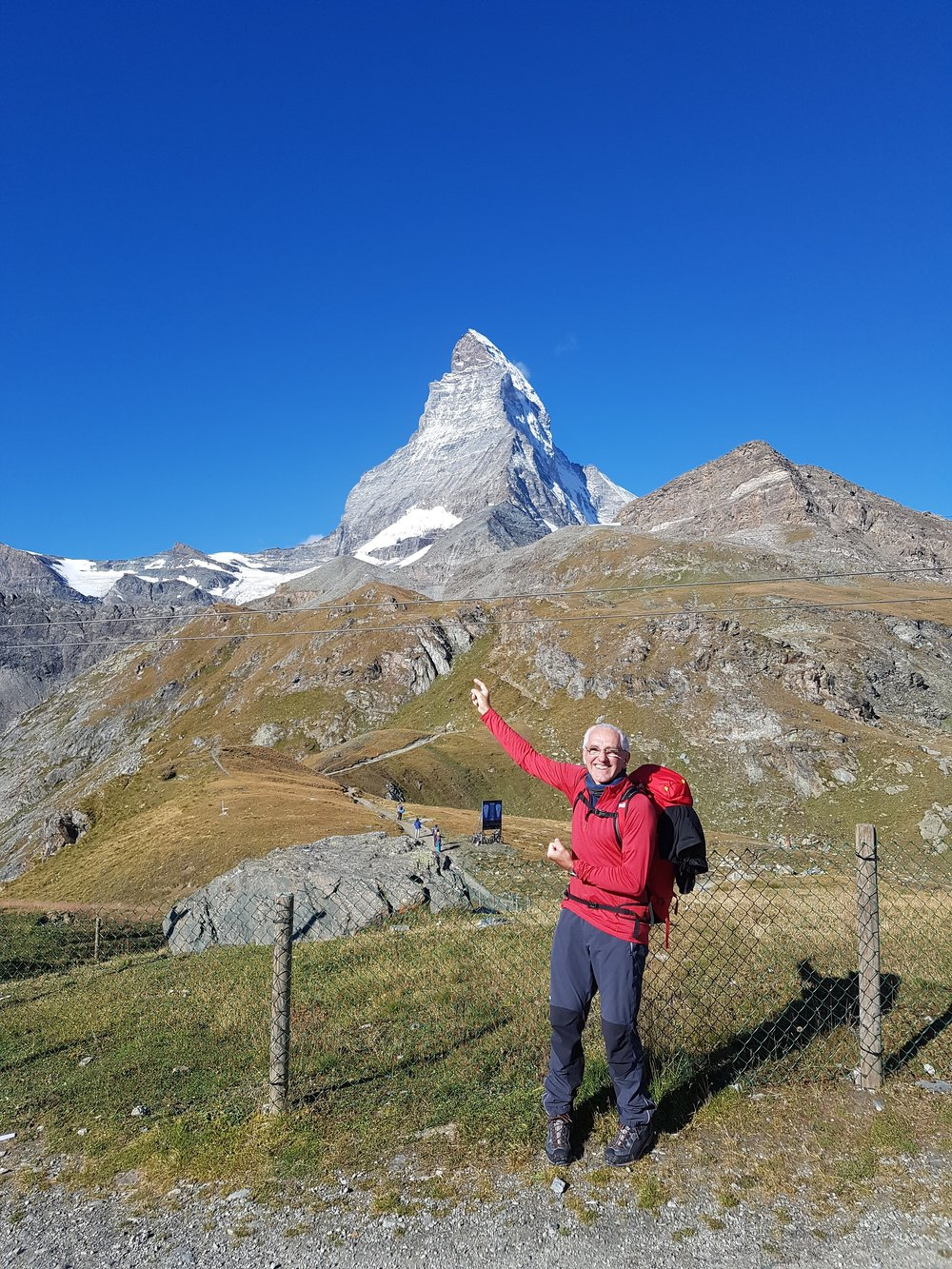 Feeling good after ascending the Hornli Ridge, Matterhorn.