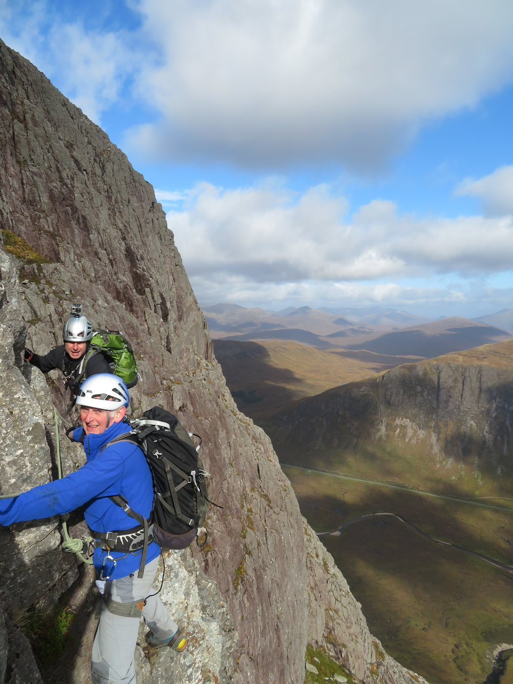 Airy moves on Crowberry Ridge, Buachaille Etive Mor, Glencoe