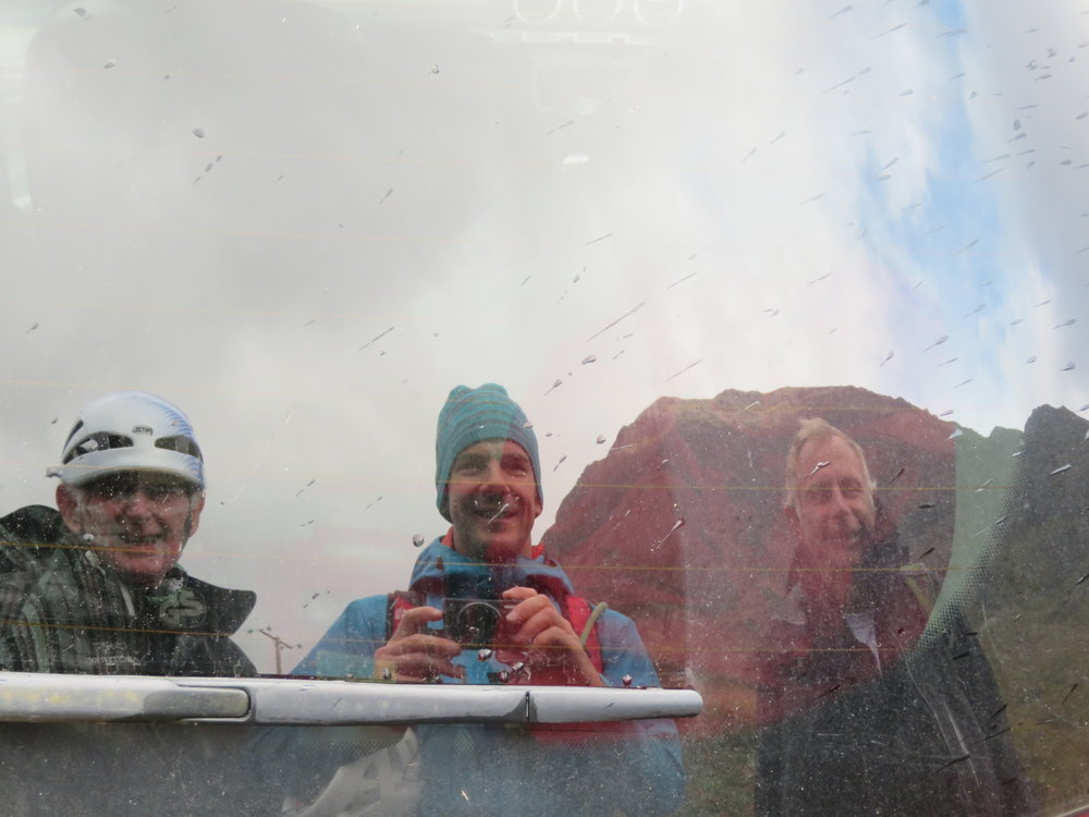 Back to the car…the Buachaille behind us and the weather was kind