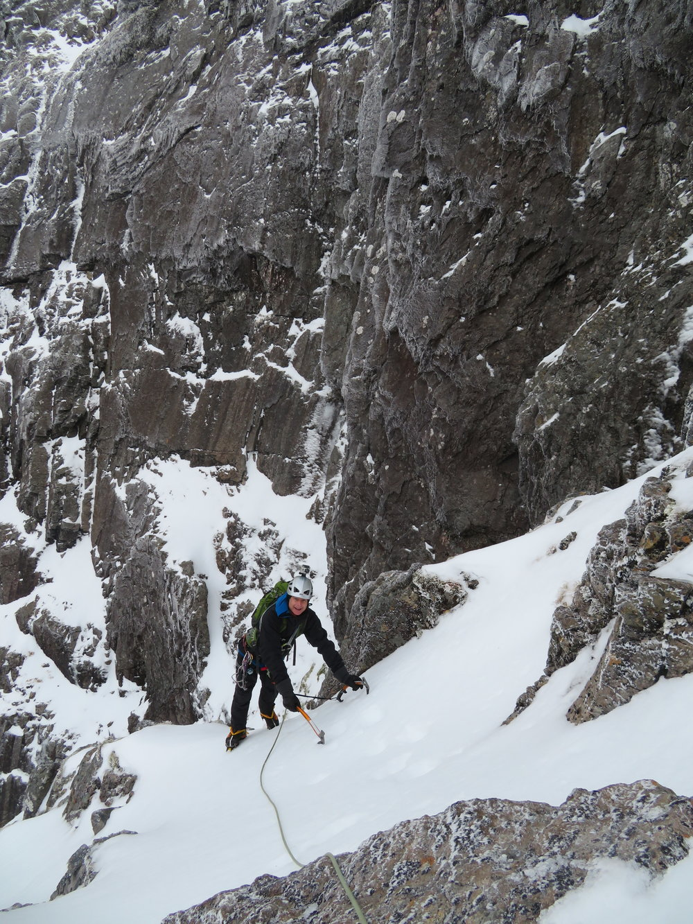 Back to Ben Nevis. This time with Austin to climb Number 3 Gully Buttress. A good start to the season.