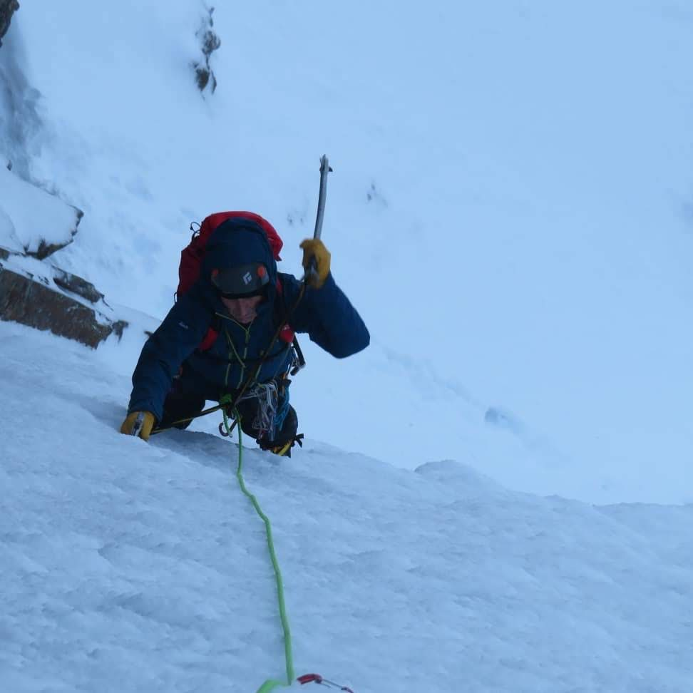 Sean on his first ever ice route!