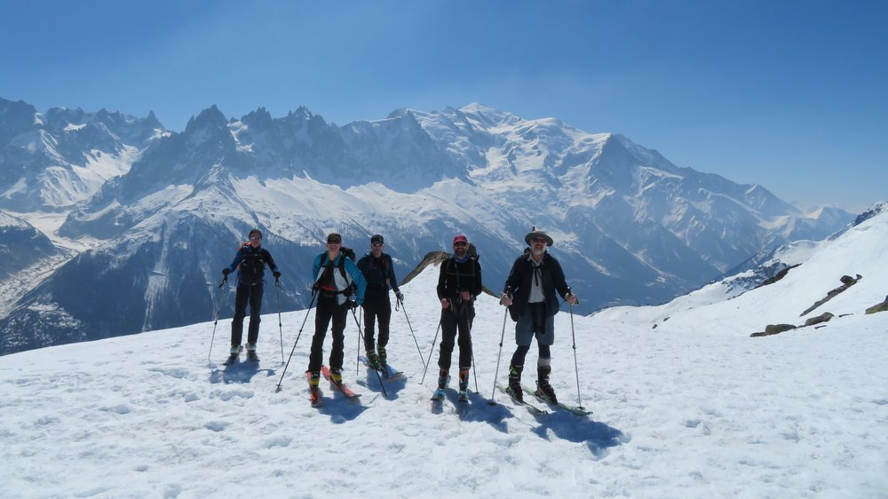 Warm up day with Mont Blanc behind