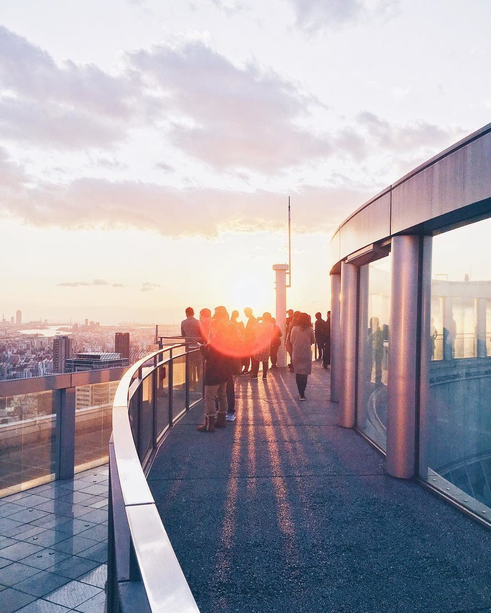 The Umeda Sky Building At Sunset -