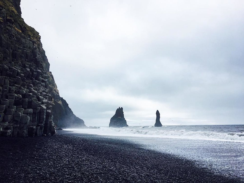 Misty Vibes at Iceland's Black Sand Beach -