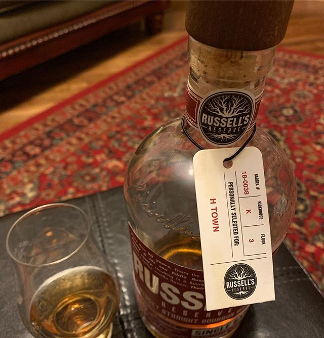Delicious stuff! A local @wildturkey mystery pick 🤔 #htown #houstonbourbonsociety #bourbonhoundsofhouston
