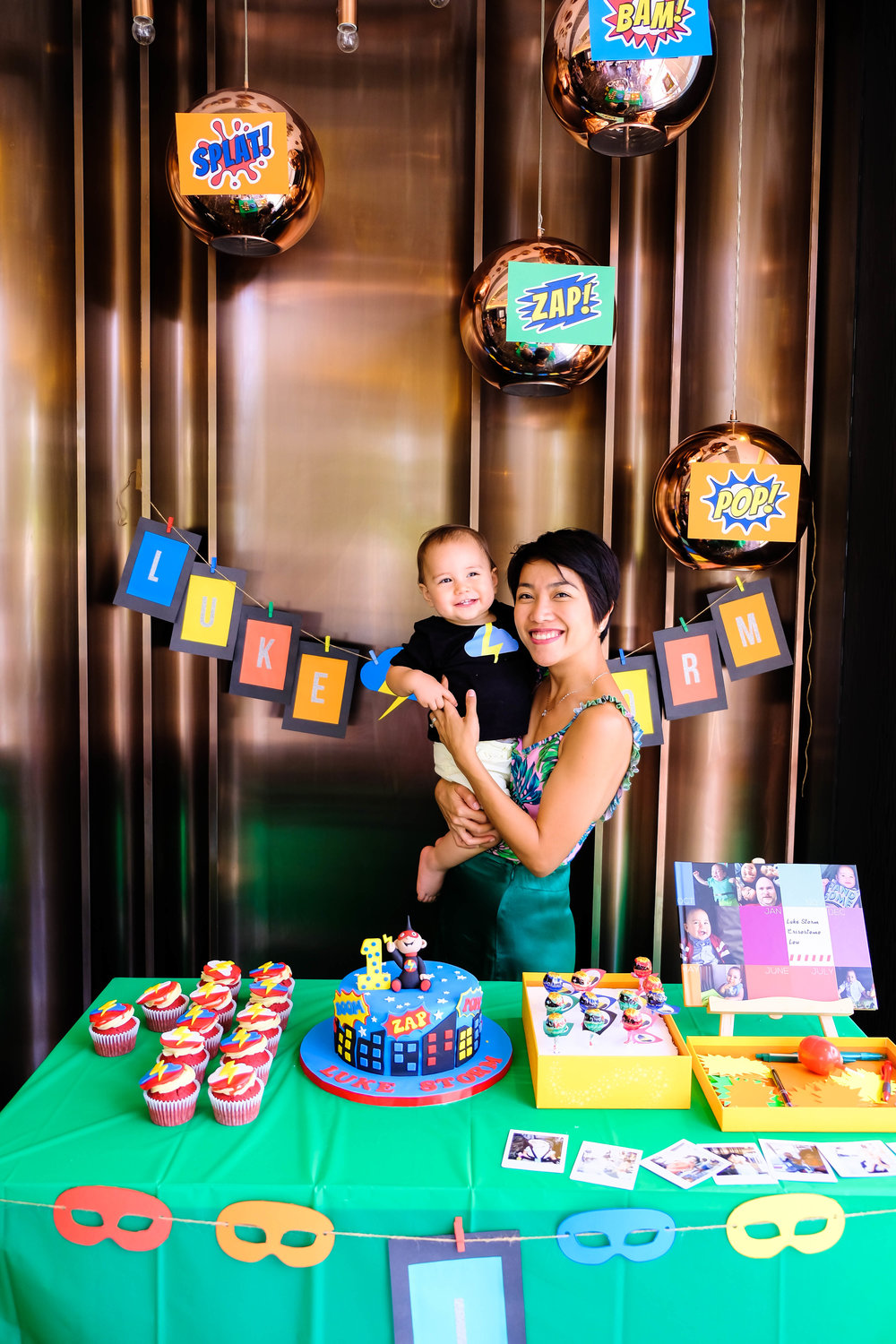 Super Luke Storm is 1! - Luke's mom lovingly made each and every detail of this party to celebrate her little boy's major milestone.