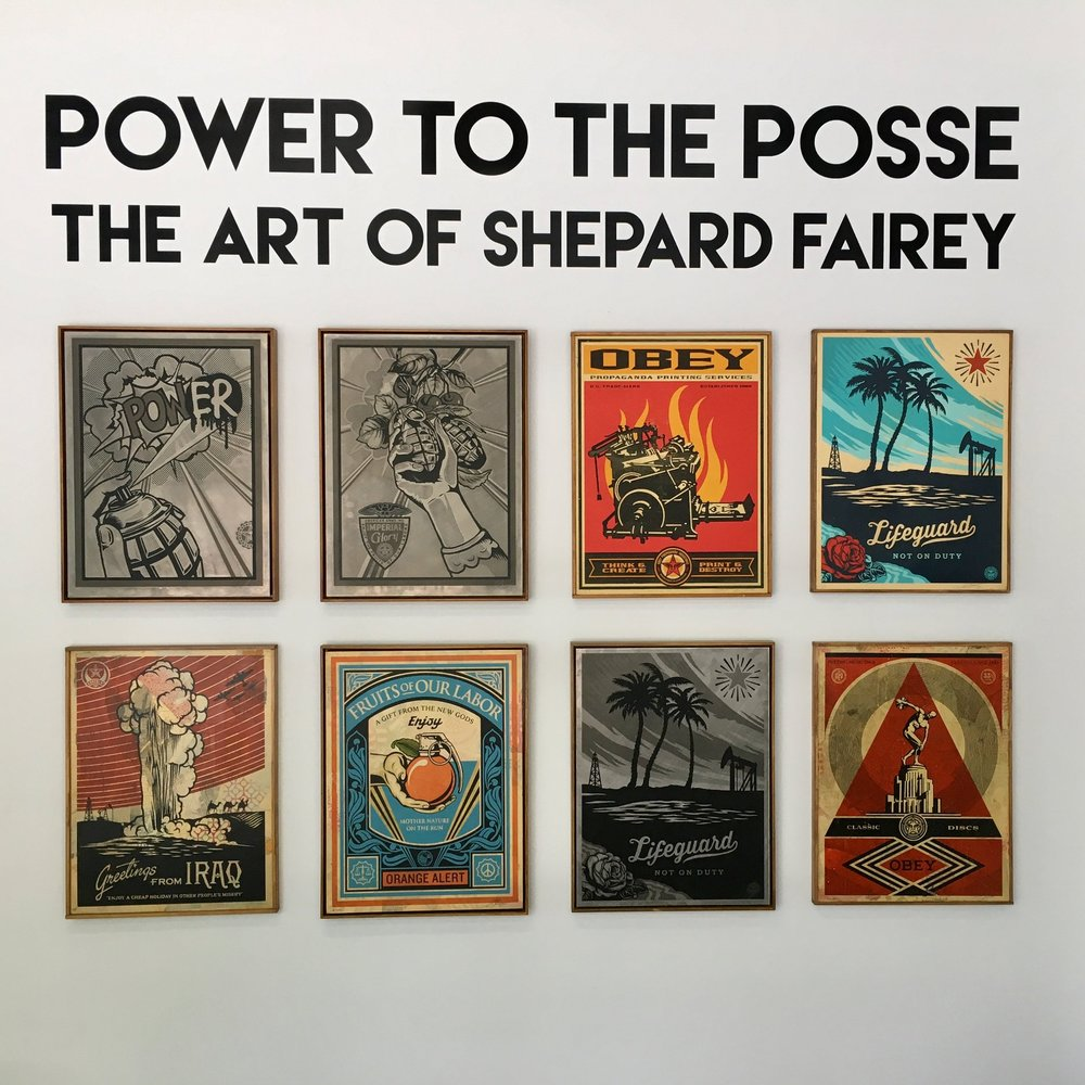 Shepard Fairey Retrospective, April 2016, Upper East Side