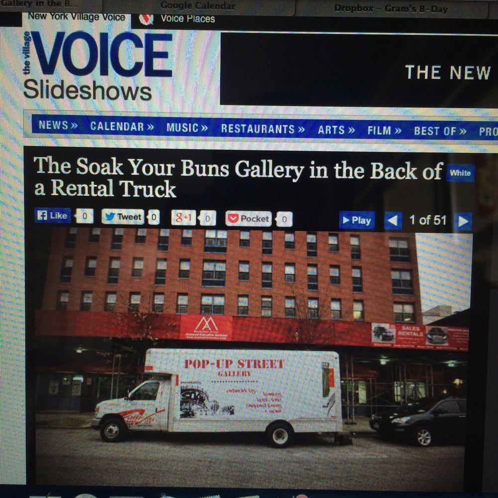 Art Gallery in a Truck, March 2014
