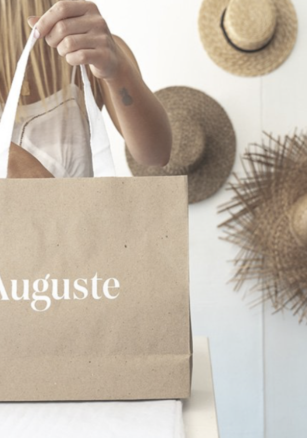 Auguste - A go to fresh, holiday style brand.