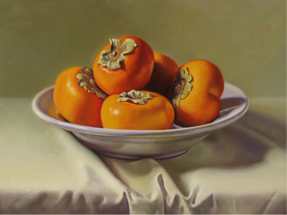 PERSIMMONS / 12 X 16 / OIL ON PANEL