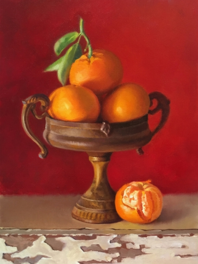 Tangerines / 16 X 12 / OIL ON PANEL