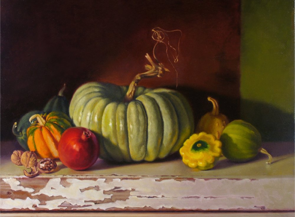 JADE PUMPKIN / 24 X 30 / OIL ON CANVAS