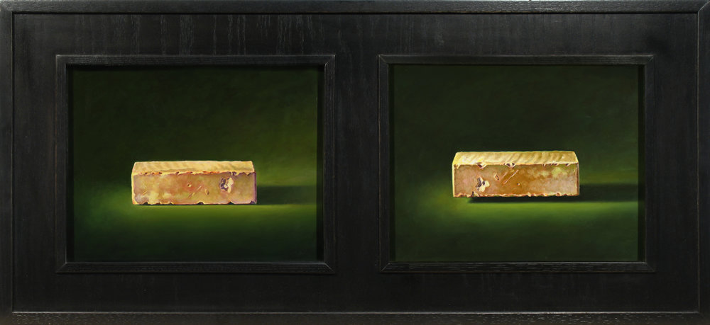 BRICKTYCH / OIL ON PANELS / 14 X 18 (each)