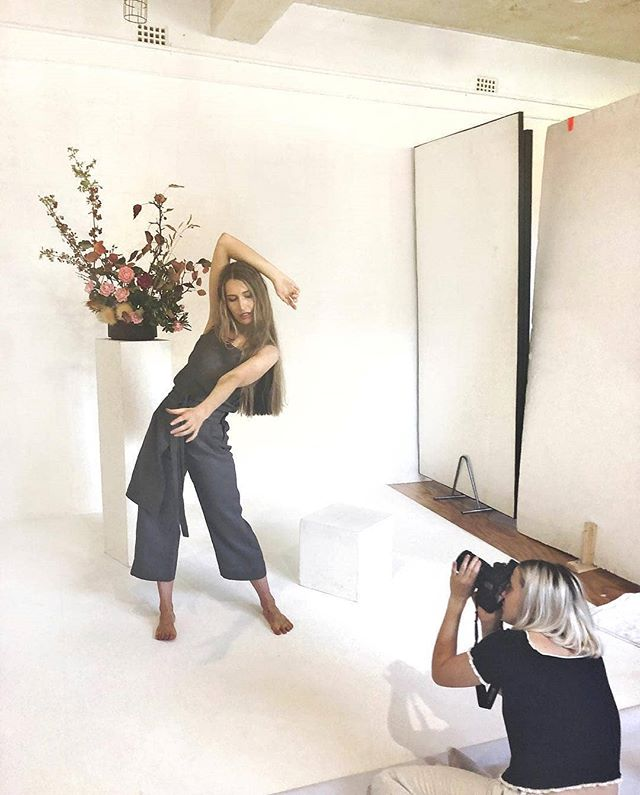 Throw back to a cheeky bts shot of @henriettad_ modelling @daysevenau for @rebeccamarianirene. Have you got your lookbooks sorted? 🤔 Gorgeous HMU by @clodiamarland with floral 💐 design by @xx_flos . . . . . . . . . . . . #fashionshoot #lookbook  #daysevenau #studioshoot #studiofashionshoot  #fashionphotography  #fashionphotoshoot  #northcote  #northcotephotostudio  #australianmade #australianbrand #australianlable #localdesigner #photographystudiohire  #photooftheday  #photostudio