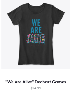We Are Alive Fitted Tee