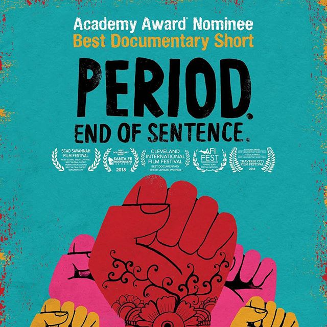 For the first time in years I missed seeing the #oscars nominated documentary shorts- so glad to finally catch the winner on @netflix . #periodendofsentence was really inspiring and a good reminder not only of how women are looked down on in many countries around the world but how misogynistic taboos and shame serve to exclude women a place at the table. I really recommend checking it out.