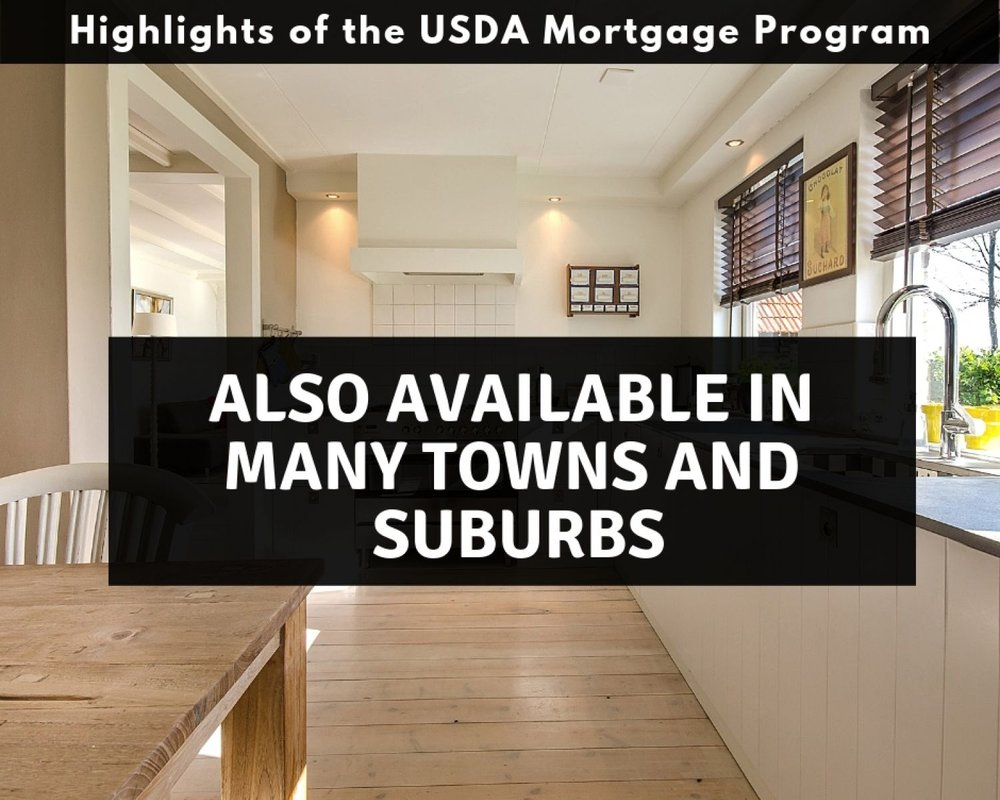 Pennsylvania USDA Mortgages available in towns and suburbs