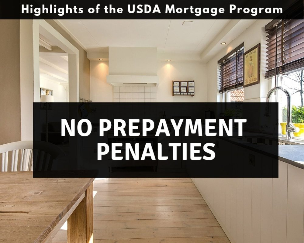 Pennsylvania USDA Mortgages have no prepayment penalties