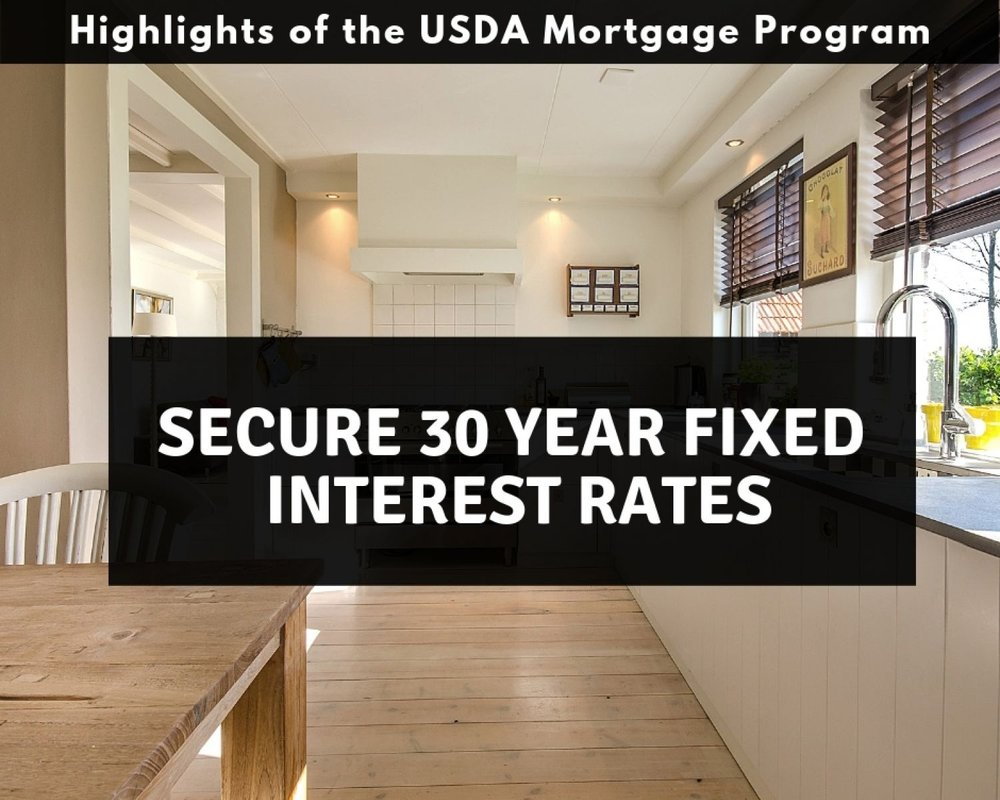 Pennsylvania USDA Mortgages have 30 year fixed interest rates